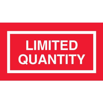 Limited Quantity Label