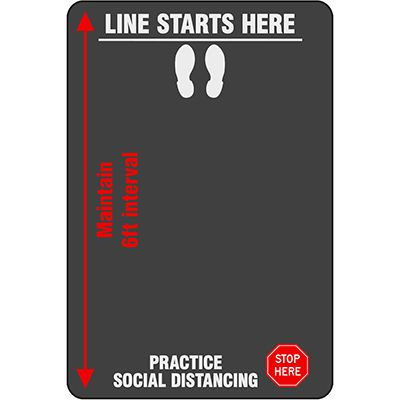 Practice Social Distancing - Safety Message Mat