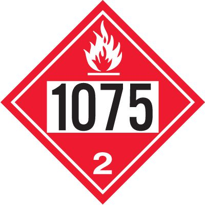 1075 Liquified Petroleum Gas - DOT Placards