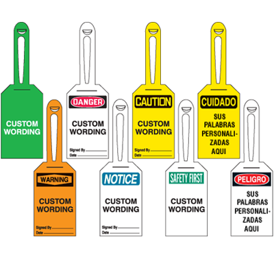 Custom Lock-On Safety Tags