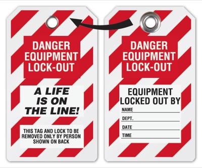 Locked Life On The Line Tag