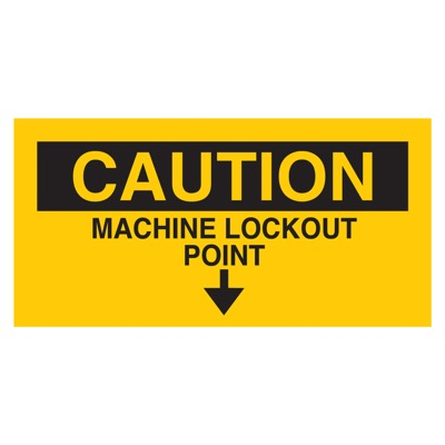 Brady Lockout Sign - CAUTION MACHINE LOCKOUT POINT - Part Number - 60178 - 1/Each