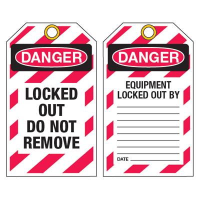 Lockout Ultra-Tags - Danger Do Not Remove