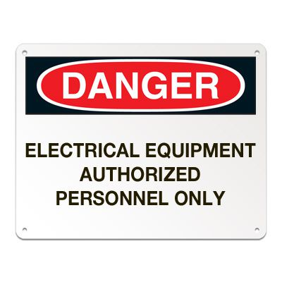 Lockout/Electrical Signs - Electrical Equipment Authorized Personnel Only