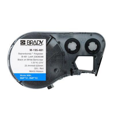 Brady M-195-481 BMP53/BMP51 Label Cartridge - White