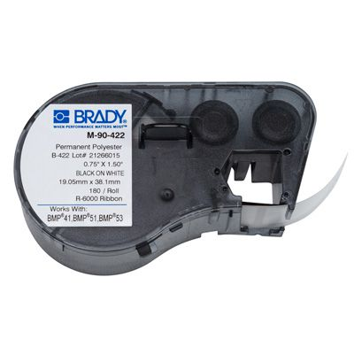 Brady M-90-422 BMP51/BMP41 Label Cartridge - Black on White