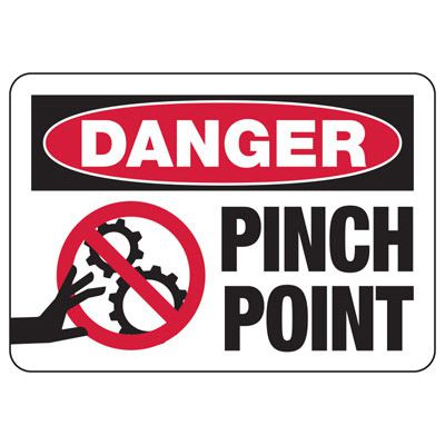 Danger Pinch Point - Industrial OSHA Machine Hazard Sign