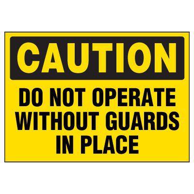 Machine Hazard Mini Sign