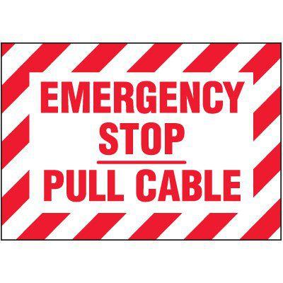 Emergency Stop Warning Marker