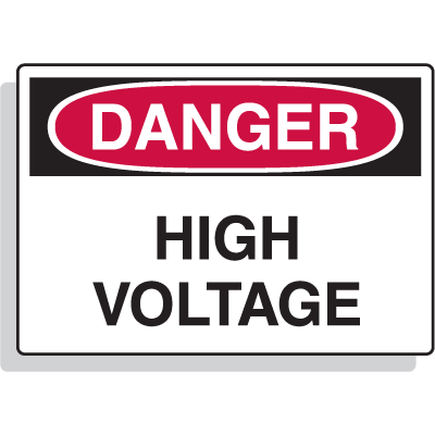 Magnetic OSHA Signs - Danger - High Voltage