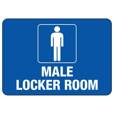 Male Locker Room - Locker Room Signs