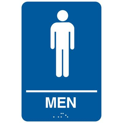Men ADA - Economy Braille Signs