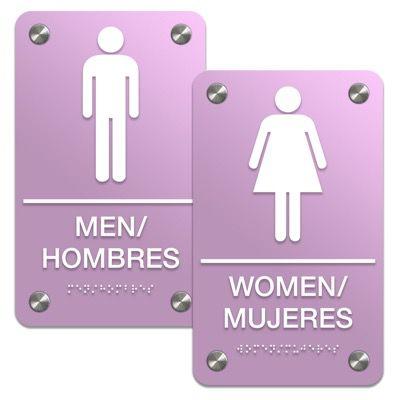 Man/Woman - Bilingual Premium ADA Braille Restroom Sign Sets