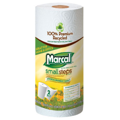 Marcal® Small Steps™ 100% Premium Recycled™ Perforated Maxi Roll Out™ Towels 6183