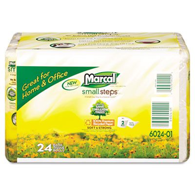 Marcal® Small Steps™ 100% Premium Recycled™ Convenience Bundle Bathroom Tissue MRC6024