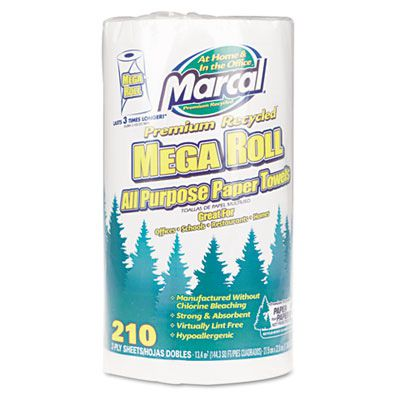 Marcal® Small Steps™ 100% Premium Recycled™ Mega Roll Paper Towel MRC6210