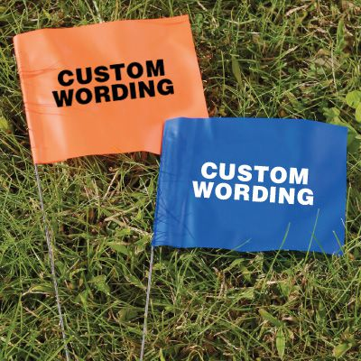 Custom Printed Marking Flags