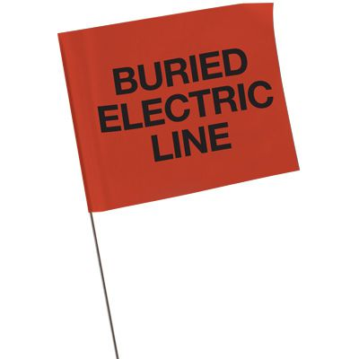Marking Flags - Buried Electric Line