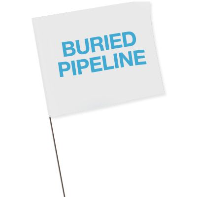 Marking Flags - Buried Pipeline