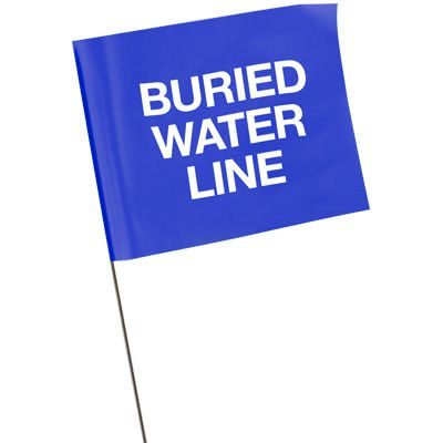 Marking Flags - Buried Water Line