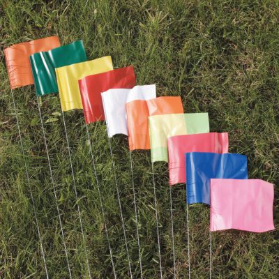 Blank Marking Flags - Steel Rod