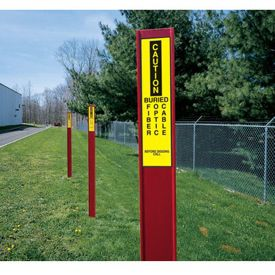 Marking  Stake Label - Buried Fiber Optic Cable