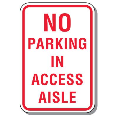 Maryland State Handicap Signs - No Parking In Access Aisle