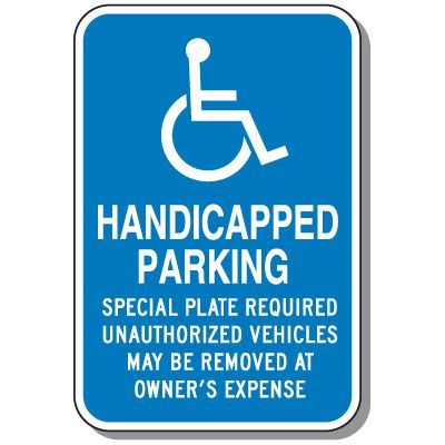 Massachusetts State Handicap Signs - Handicapped Parking