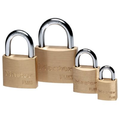Master™ Individually-Keyed Brass Padlocks