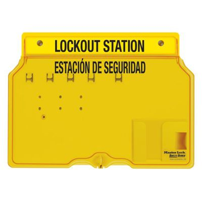 Master Lock® Bilingual 4-Lock Padlock Station, Unfilled