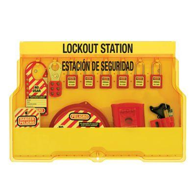 Master Lock® Bilingual Lockout Station