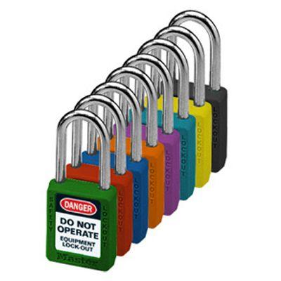 Master Lock® Master-Keyed Color-Coded Message Padlocks