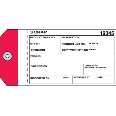 Scrap Material Management Tags