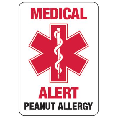 Medical Alert Peanut Allergy - Food Allergy Signs