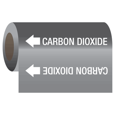 Medical Gas Self-Adhesive Pipe Markers-On-A-Roll - Carbon Dioxide