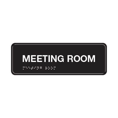 Meeting Room - ADA Braille Tactile Signs