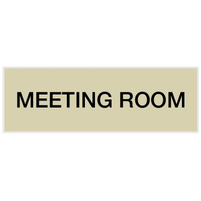 Meeting Room - Engraved Standard Worded Signs
