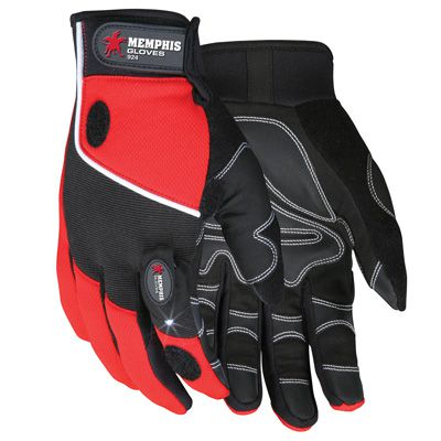 Memphis® Multi-Task Gloves With LED Light 924L