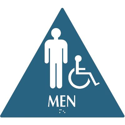 Men (Accessibility) - Optima California Code Restroom Signs