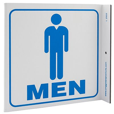 Men Restroom L-Style Sign