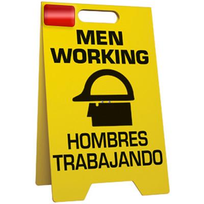 Men Working Bilingual - Floor Stand