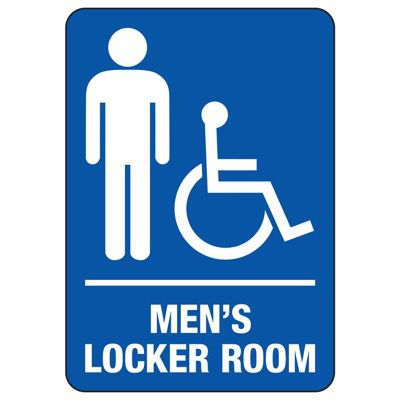Men's Locker Room (Accessibility) - Locker Room Signs