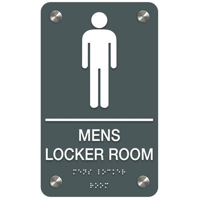 Men's Locker Room - Premium ADA Facility Signs