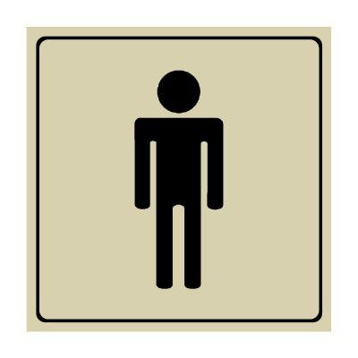 Men's Restroom Symbol - Engraved Graphic Symbol Signs