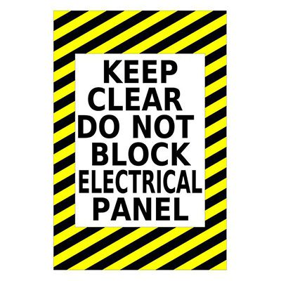 Mighty Line Keep Clear Do Not Block Electrical Panel Floor Sign