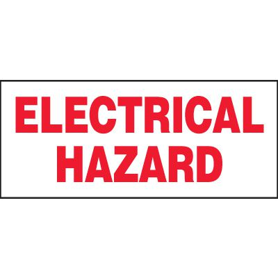 Electrical Hazard Miniature Labels