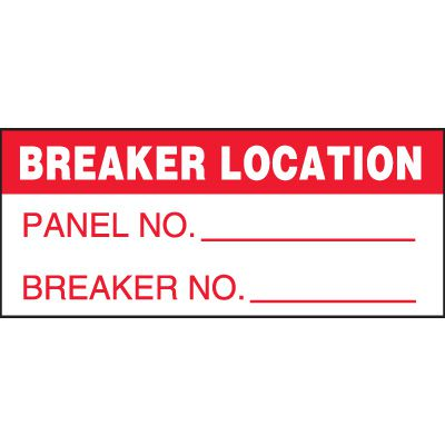Breaker Location Miniature Labels