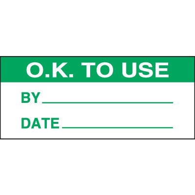 O.K. To Use Miniature Labels