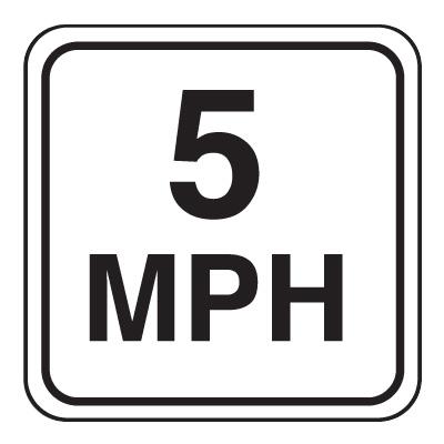 Mini Speed Limit Signs - 5 MPH