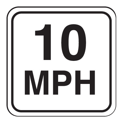 Mini Speed Limit Signs - 10 MPH
